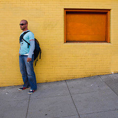 average joe (bhautik joshi) Tags: sf sanfrancisco california portrait orange sunglasses yellow wall delete10 standing delete9 delete5 delete2 delete6 delete7 candid smoke pedestrian delete8 delete3 joe delete delete4 save2 smoking sidewalk backpack save1 sfist 2011 fillmorest onthewaytothepub bhautikjoshi deletedbythehotboxgroup