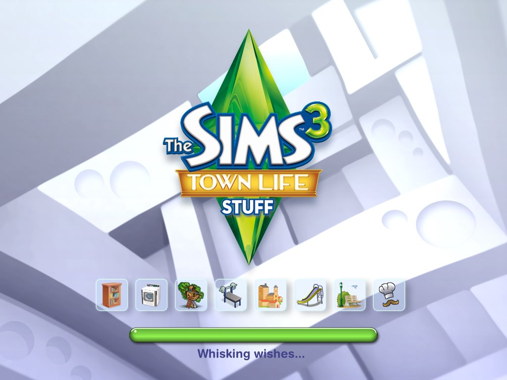 Town Life Stuff Pack Loading Screen