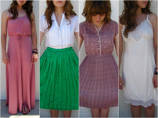 dresses and a silk skirt