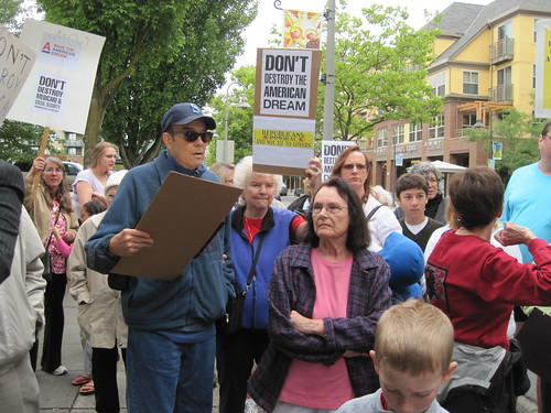 Rally outside David Reichert's office