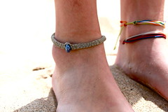 (genevievecx3) Tags: summer beach photography sand bracelet ankle anklet hemp