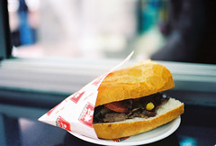 Lunch (a l e x . k) Tags: food film turkey bread lunch pentax bokeh istanbul döner kebab kebap lx fa43mmf19