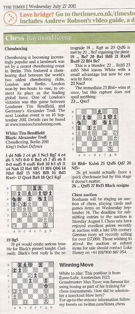 Times Chess clipping July 2011