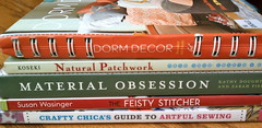 Wordless Wednesday - Library Finds (victoriapaige @ Boutique Uniquely) Tags: wednesday sewing books quilting patchwork wordless