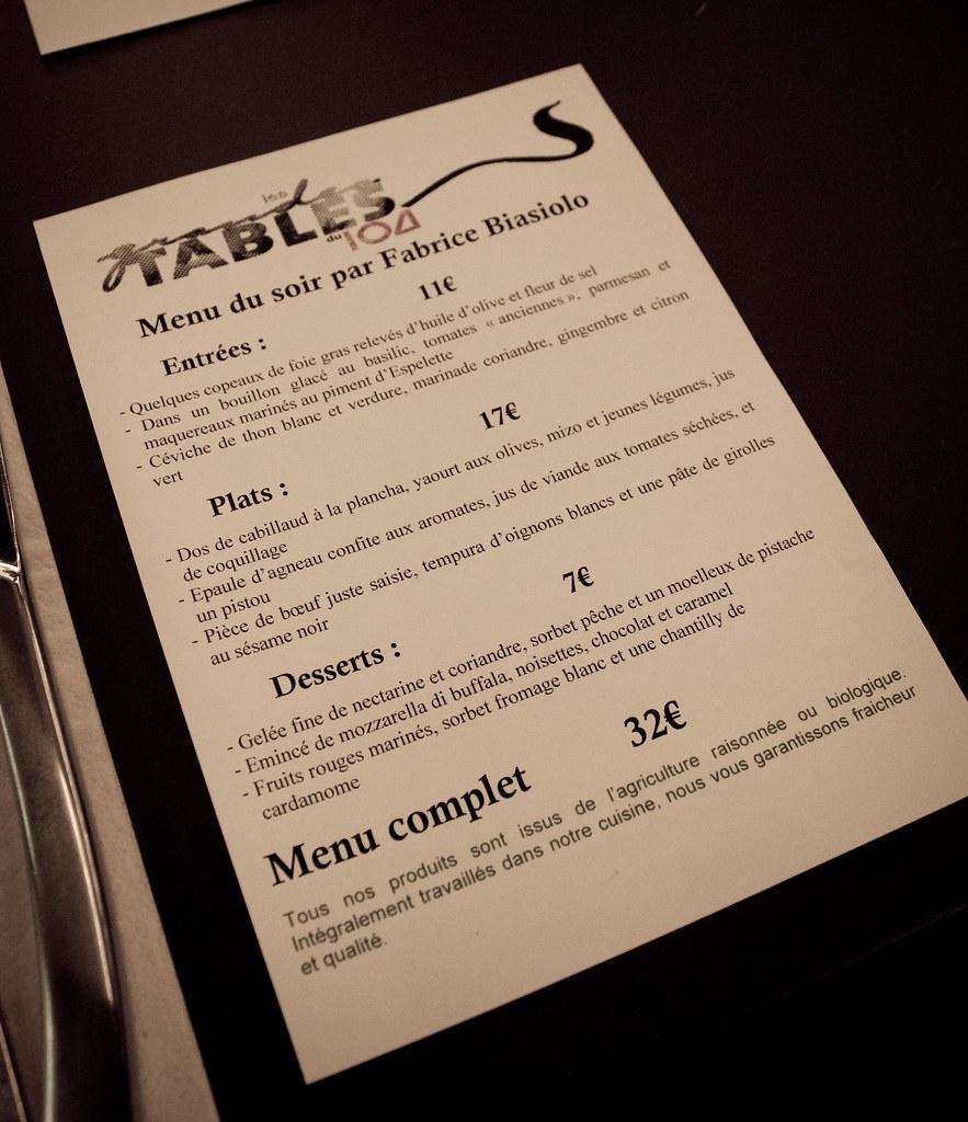 Tables du 104