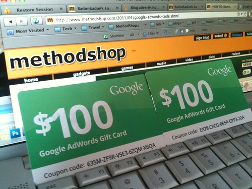 $100 Google Adwords Gift Cards