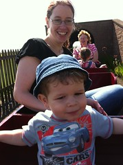 Mummy may have liked the train as much as Owen...