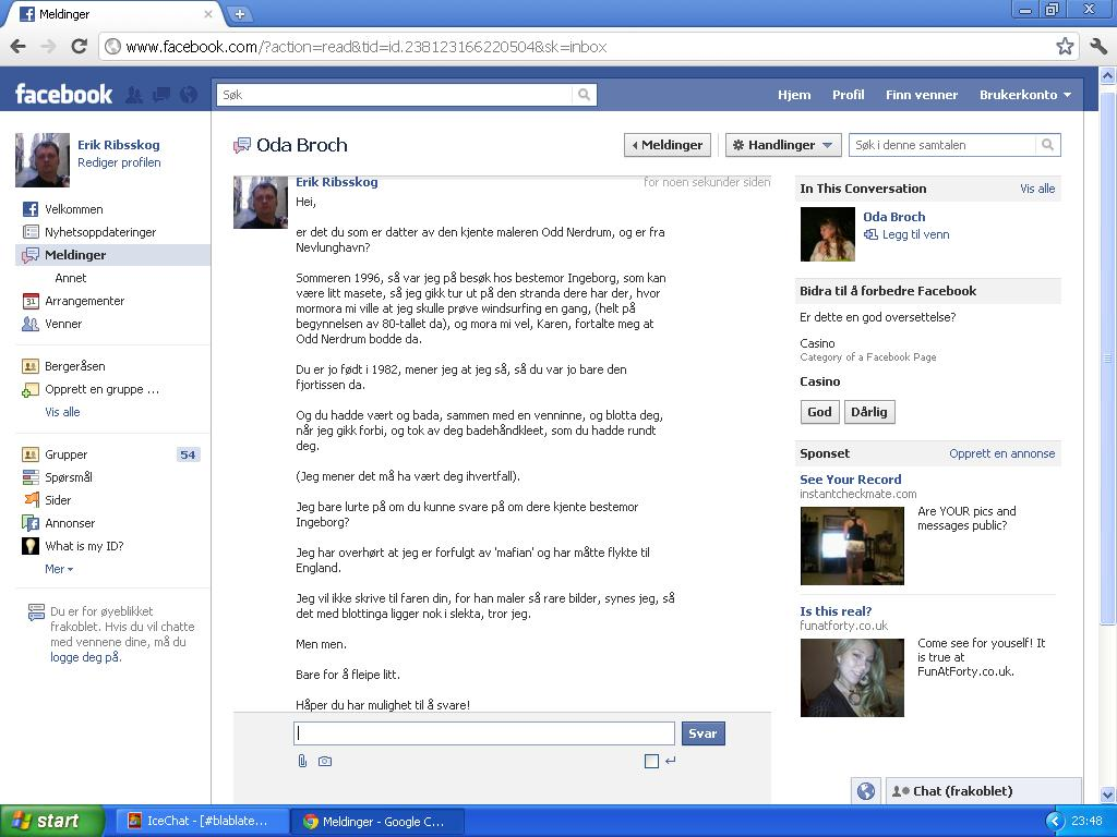 facebook melding datter odd nerdrum
