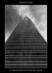 El Rasgacielos (Toth del Valle) Tags: madrid urban bw españa building tower byn architecture skyscraper spain arquitectura torre bn urbano perspectiva contrapicado lowangle rascacielos virado toning torredecristal cbta