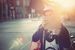 Paper Cam / Me Myself and I (KIDKUTSMEDIA) Tags: light sun paper cam flare rockwell parra patta
