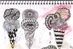 journal page: ice cream (tpurk) Tags: journalpage zentangle