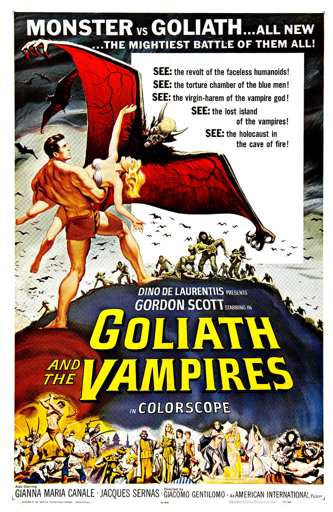 Reynold Brown - Goliath and the Vampires (American International, 1964)