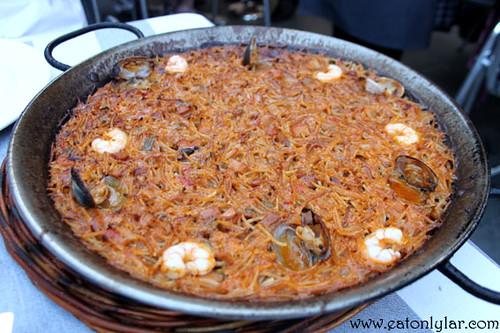 Vermicelli Noodle Paella (Fideos Banda), Can Ramonet Restaurant