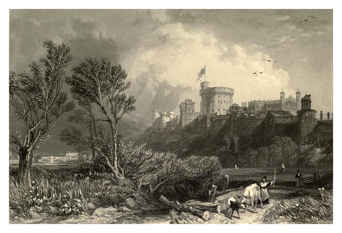 005- Castillo de Windsor desde Clewer Meadow-Windsor Castl and its environs 1848- Ritchie Leitch