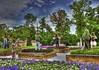 Bluegrass Band in the Park (Ken Yuel Photography) Tags: canada winnipeg manitoba flowerboxes banjoman bluegrassmusic gardenboxes digitalagent kenyuel assiniboineparkwinnipeg