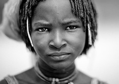 Mucubal Girl, Virie Area, Angola (Eric Lafforgue) Tags: africa portrait people blackandwhite tourism girl face horizontal female person one exterior head culture tribal headshot tribes teenager tradition tribe ethnic humanbeing oneperson tribo angola ethnology tribu tourismo southernafrica lookingatcamera ethnie ethnicgroup  mucubal   mugubale      mucubai mucabale southangola mukubaltribe mukubal mucubaltribe virie viriearea mucubalpeople mukubalpeople ango0183