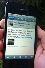 Usando el Iphone en Estonia 2
