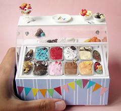 Miniature Ice Cream Display