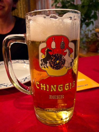 Chinggis beer in Ulaanbaatar