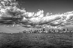 New York Skyline from Hoboken HDR (Dave DiCello) Tags: newyorkcity newyork photoshop nikon manhattan tripod newyorkskyline empirestatebuilding nikkor hdr highdynamicrange hoboken nycskyline cs4 hobokennj 7worldtradecenter photomatix tonemapped colorefex cs5 d700 davedicello hdrexposed