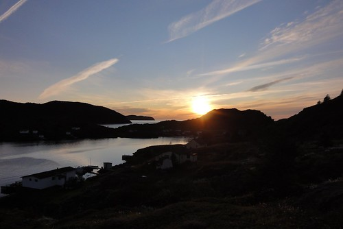Sunset over Lower Harbour.