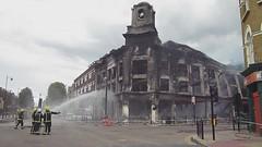 Arson - Corner of High Road Tottenham & Lansdowne Road by Alan Stanton