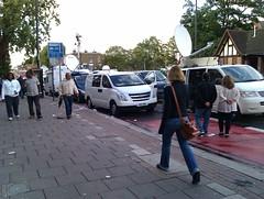 TV vans on Tottenham High Rd by yurri