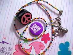 Don't B H8N (peanutbasher) Tags: stilllife love photography necklace peace heart jewelry ring lgbt button fckh8