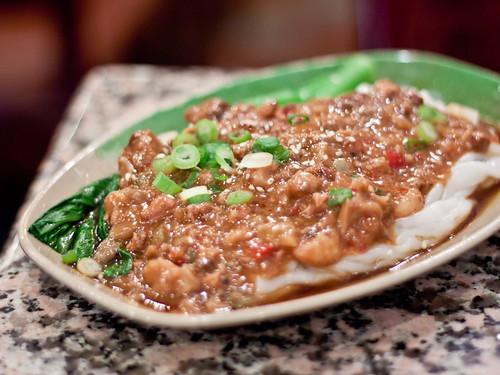 Cheong fun w/XO pork sauce