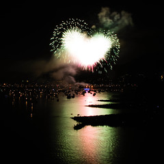 2011 Celebration of Light - Canada (MikeWu) Tags: show light summer canada love night vancouver lights bc heart fireworks firework celebration entertainment englishbay cupid celebrationoflights westend celebrationoflight   burrardbridge          qixi