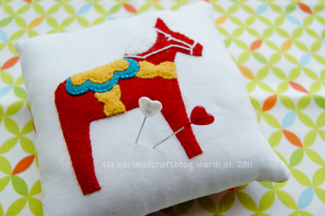 Dala Horse pincushion