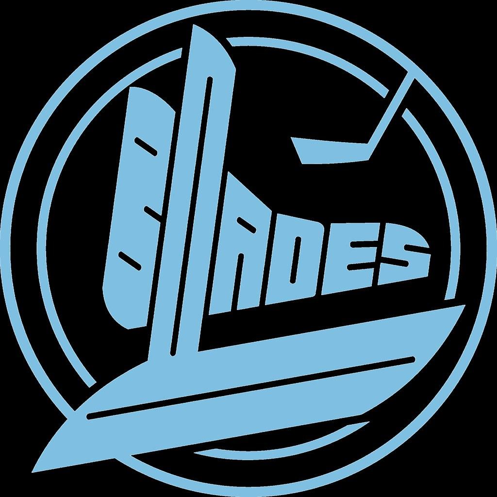 Blades Ice Puck Logo