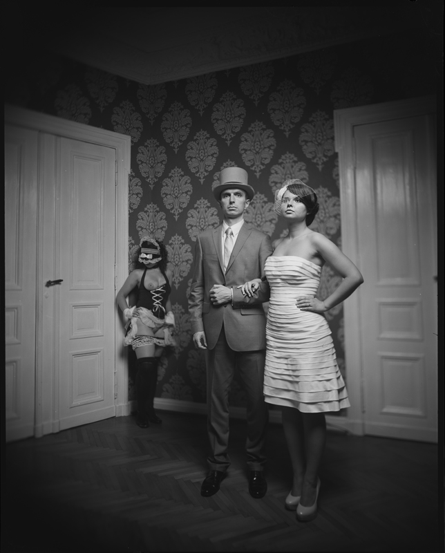 artistic wedding portrait, large format, birmingham