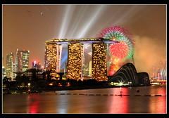 Singapore National Day 2011 (Kenny Teo (zoompict)) Tags: reflection water marina canon river yahoo google fireworks ndp celebrate singaporenationaldayparade marinabaysands eos5dmark2 singaporelowerpiercereservoir 2011ndp