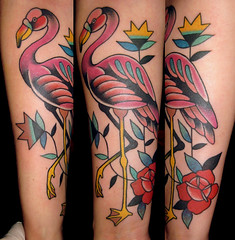 PINK FLAMINGO (piranhart) Tags: tattoo rosa tattoos well pinkflamingo done flamenco piranha tatuaje tatuajes welldone piraa xpiranhax