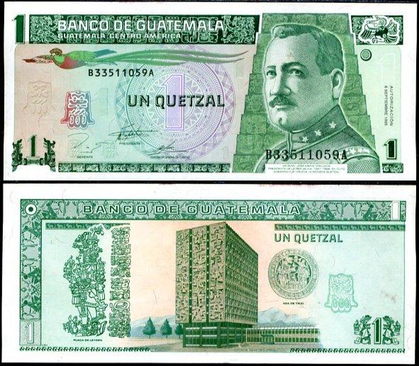 1 Quetzal Guatemala 1995, Pick 87