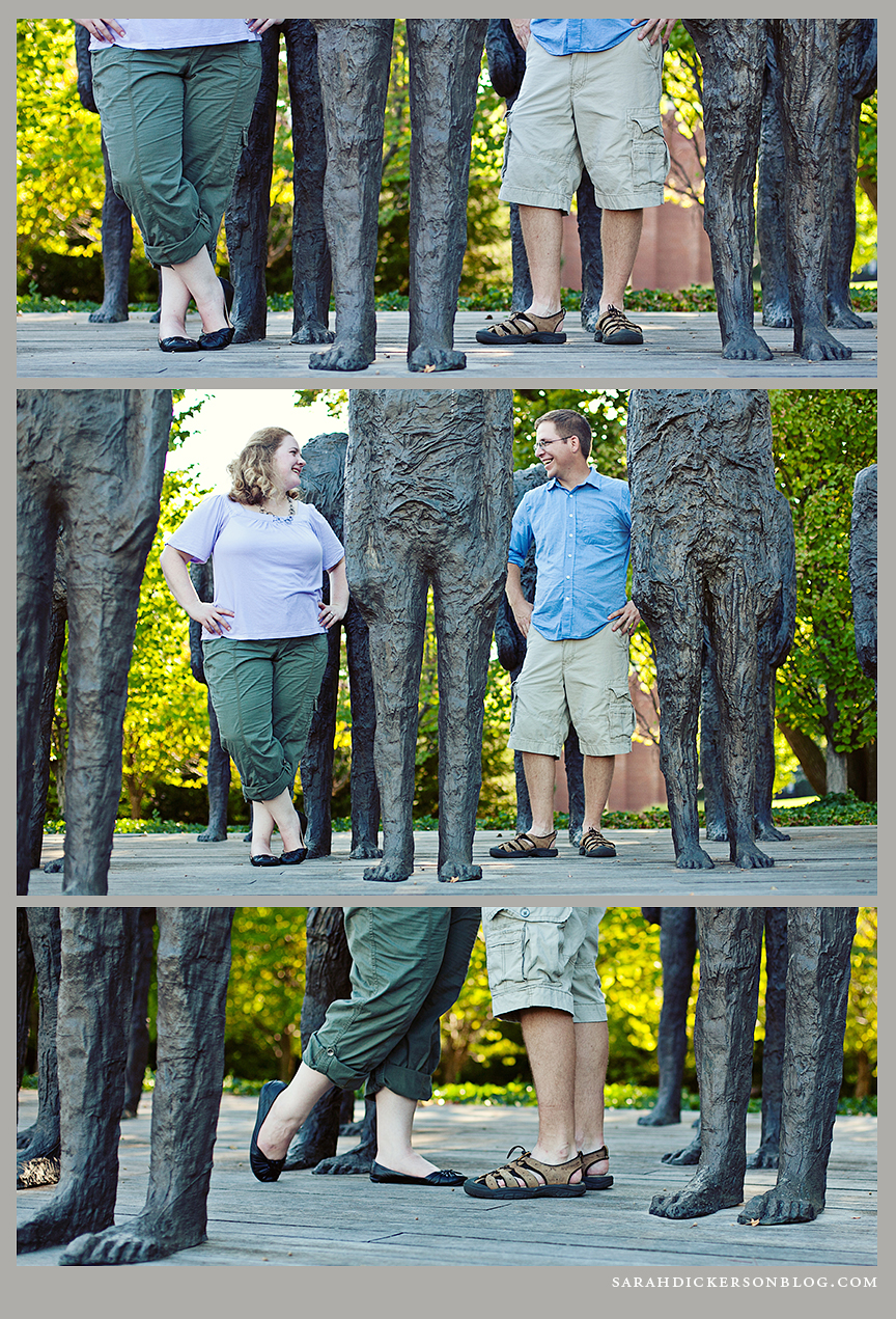 Nelson-Atkins Museum of Art engagement photography