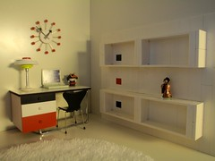 Spook House design shop (pubdoll) Tags: red white lego dollhouse dollshouse designchairs 116scale 34scale modernminiature