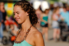 Squinting Woman in a Sundress, Missoula County Fair (CT Young) Tags: montana fair missoula countyfair missoulamt missoulamontana westernmontanafair canonef70200mmf4lusm missoulacountyfair 2011westernmontanafair