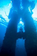 Mishka Free Diving at Gravel Loader