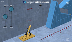 Sangari Physics Game - Firing the cannon
