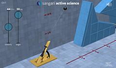 Sangari Physics Game - Firing the cannon