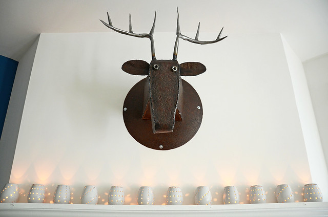 bad ass metal deer head