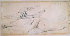 Ingres - A double study for odalisque with slave (petrus.agricola) Tags: paris for à with jean du double musée study palais dominique auguste slave petit ingres odalisque lesclave