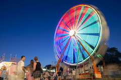 Ferris Wheel 2011 (riggsy23) Tags: county longexposure carnival colors wheel st canon joseph rainbow bend south fair ferris rides 4h lighttrail