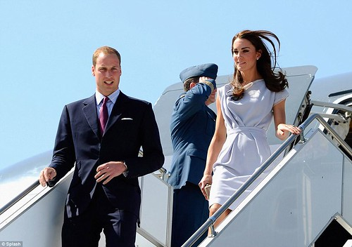 She's a California girl! Royal couple touch down in LA with a splash of red, white and blue as America prepares for Kate-mania  1