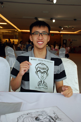 Caricature live sketching for Sime Darby Select Open House Day 2 - 20