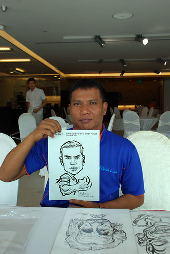Caricature live sketching for Sime Darby Select Open House Day 2 - 36