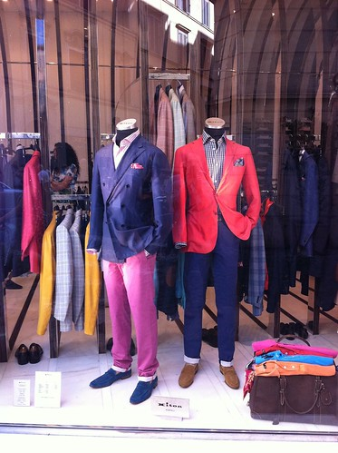 Kiton Rome shop window