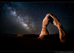 Aeon Rising (Goldpaint Photography) Tags: usa stars utah ut sandstone arches galaxy astrophotography moab astronomy nightsky delicate archesnationalpark delicatearch starrynight milkyway earthandspace celstial goldpaintphotography competition:astrophoto=2011